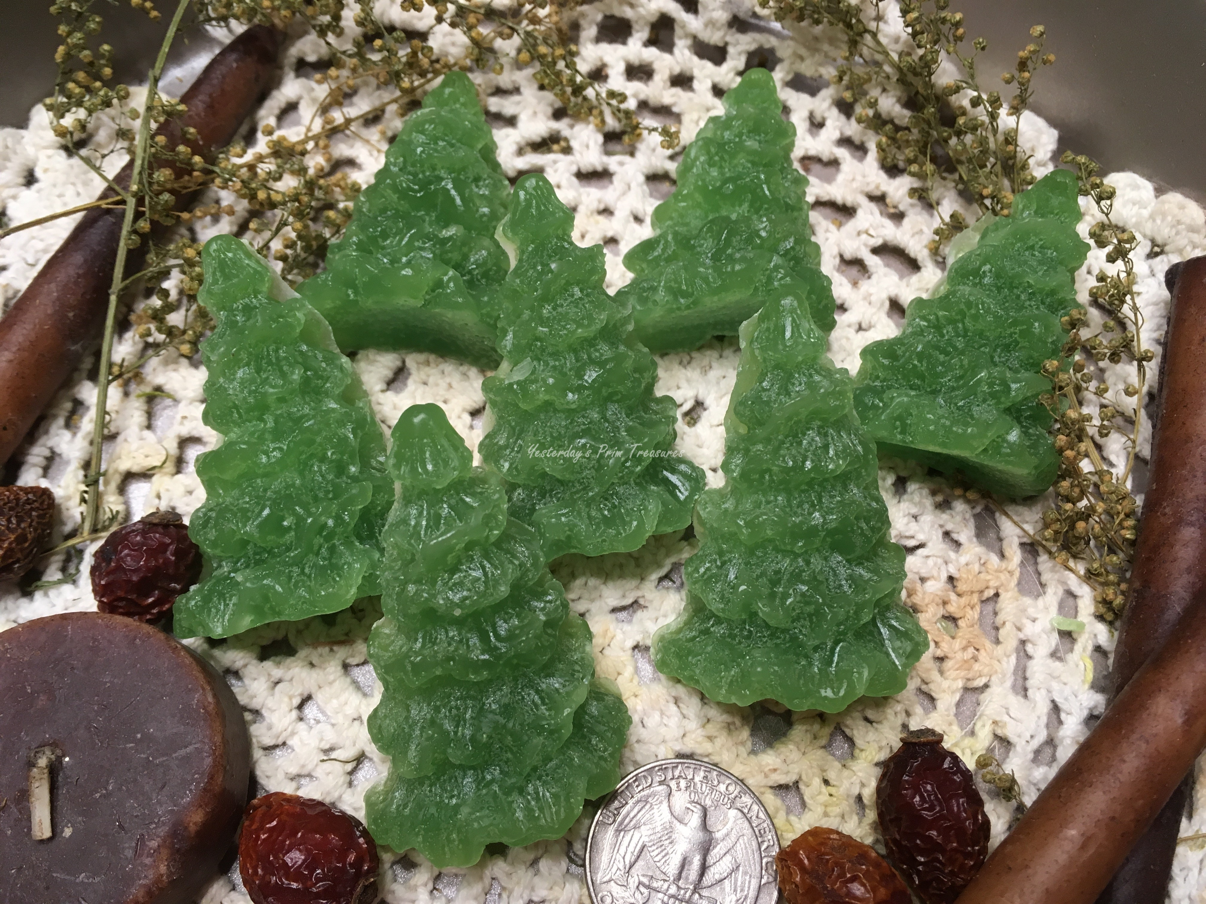 Christmas Tree Fillers.Details About Primitive Handmade Pine Scented Tarts Christmas Tree Embeds Bowl Fillers